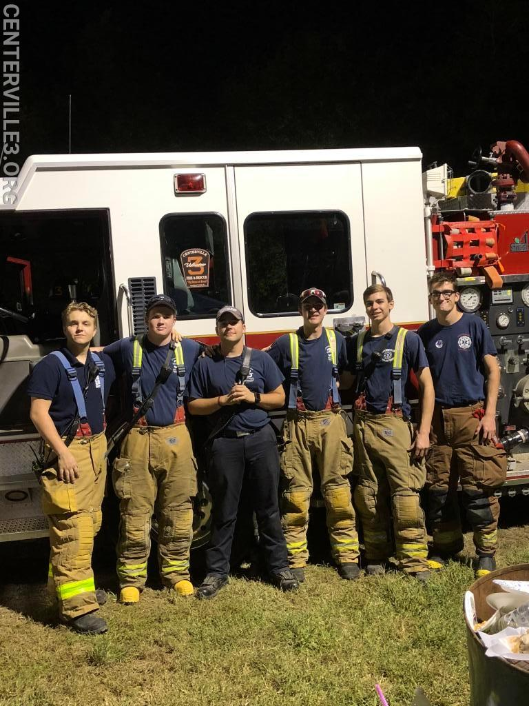 FF Hunter Glaveskas (Co.6), Probationary FF Matt Terhune (Co.3), FF/EMT Carson Rubin (Co.3), Probationary FF James Carrol (Co.3), FF Gannon Bostain (Co.3), Probationary FF Travis Cooper (Co.3)