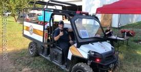 FF/EMT Carson Rubin (Co.3) staffing an EMS Response Cart provided by Forest View Vol. Rescue Squad