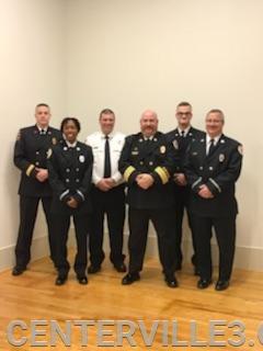 L to R : Captain Jones, Lt. Nicholson, Lt. Boster, District Chief Jones, Lt. Belton, Lt. Parrott (missing Lt. Marks & Lt Proffitt)