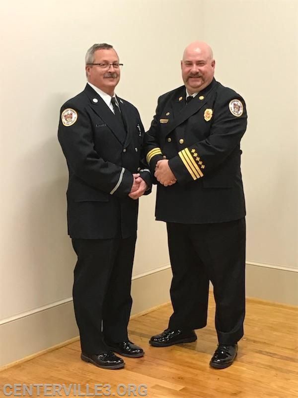 Lt. Steve Parrott with District Chief Kevin Jones