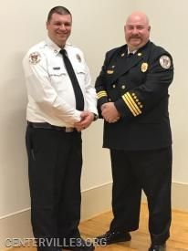 "Lt. John ""JD"" Boster with District Chief Kevin Jones"