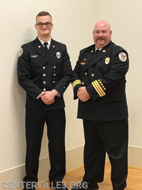 Lt. Kyle Belton with District Chief Kevin Jones