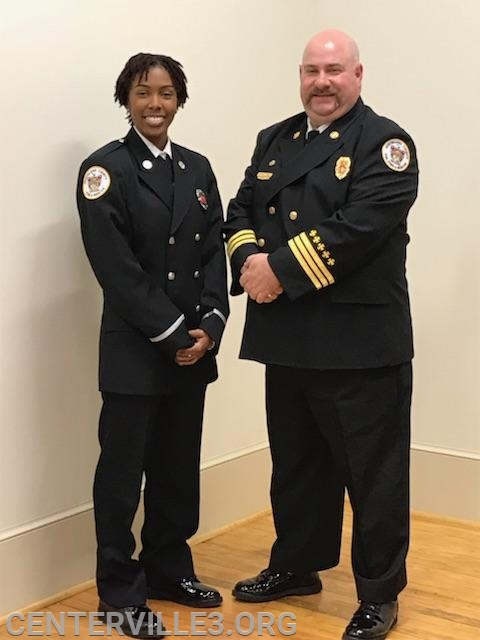 Lt. Myasiah Nicholson with District Chief Kevin Jones